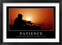 Framed Patience: Inspirational Quote and Motivational Poster