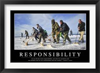 Framed Responsibility: Inspirational Quote and Motivational Poster
