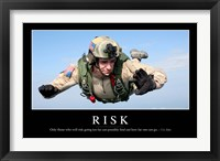 Framed Risk: Inspirational Quote and Motivational Poster