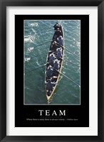 Framed Team: Inspirational Quote and Motivational Poster