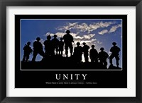 Framed Unity: Inspirational Quote and Motivational Poster