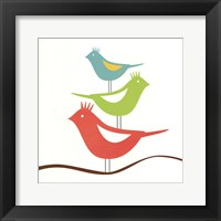 Songbirds III Framed Print