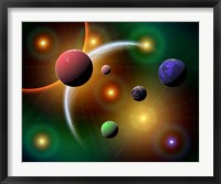 Framed Stars and Planets in the Milky Way Galaxy