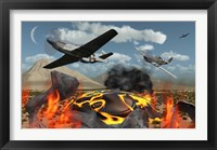 Framed American P-51 Mustang Fighter