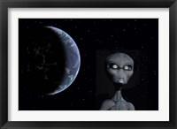 Framed Grey Alien