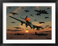 Framed B-17 Flying Fortress