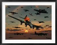 Framed B-17 Flying Fortress