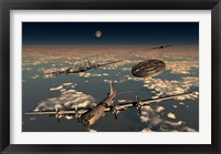 Framed UFO and B-29 Superfortress Aircraft