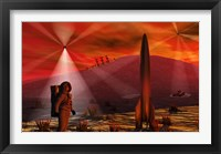 Framed Alien Red Planet