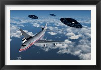 Framed Boeing 747 and UFO's