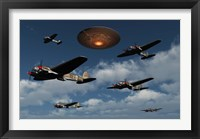 Framed German Heinkel Bombers and UFO