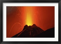 Framed Stromboli Eruption