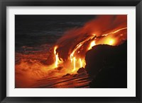 Framed Kilauea Lava Flow