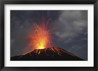 Framed Krakatau Eruption