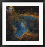 Framed IC 1805, the Heart Nebula