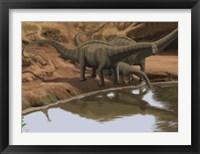 Framed Apatosaurus Dinosaurs