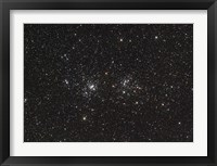 Framed Double Cluster in Perseus