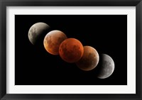 Framed Composite of Lunar Eclipse