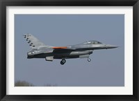Framed F-16C Fighting Falcon of the Italian Air Force