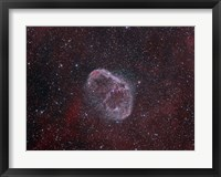 Framed NGC 6888, the Crescent Nebula