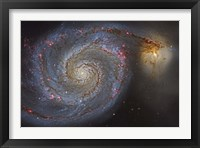 Framed Whirlpool Galaxy