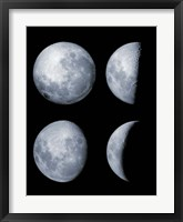 Framed Four Phases of the Moon