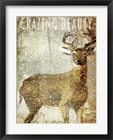 Winter Game Two Framed Print