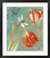 Mandarin Tulips Framed Print