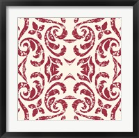 Framed Damask Red
