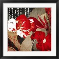 China Red I Framed Print