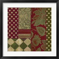 Merry Christmas Patchwork III Framed Print