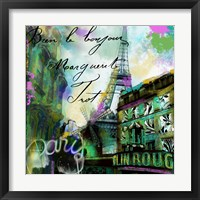 To Paris With Love II Framed Print