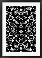 Black & White Pattern Framed Print