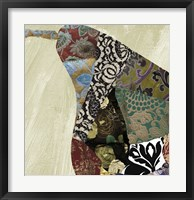 Pear Brocade I Framed Print