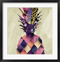 Pineapple Brocade II Framed Print