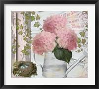 Chalet d ete Hydrangea Framed Print
