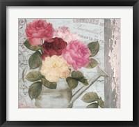 Chalet d ete roses Framed Print
