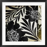 Floral Jungle Lines I Framed Print