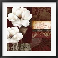 Flores Blancas III Framed Print