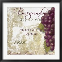 Grand Vin Burgundy Framed Print