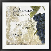 Grand Vin Grenache Framed Print