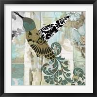 Hummingbird Batik II Framed Print