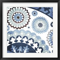 Moroccan Blues I Framed Print