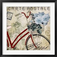 Postale Paris II Framed Print