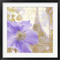 Purple Paris II Framed Print