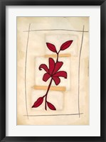Framed Floral Study I