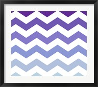 Purple-Blue Chevron Framed Print