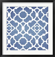 Moroccan Blues III Framed Print