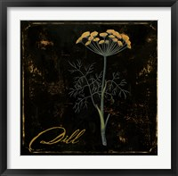 Black Gold Herbs I Framed Print
