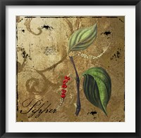 Black Gold Herbs III Framed Print